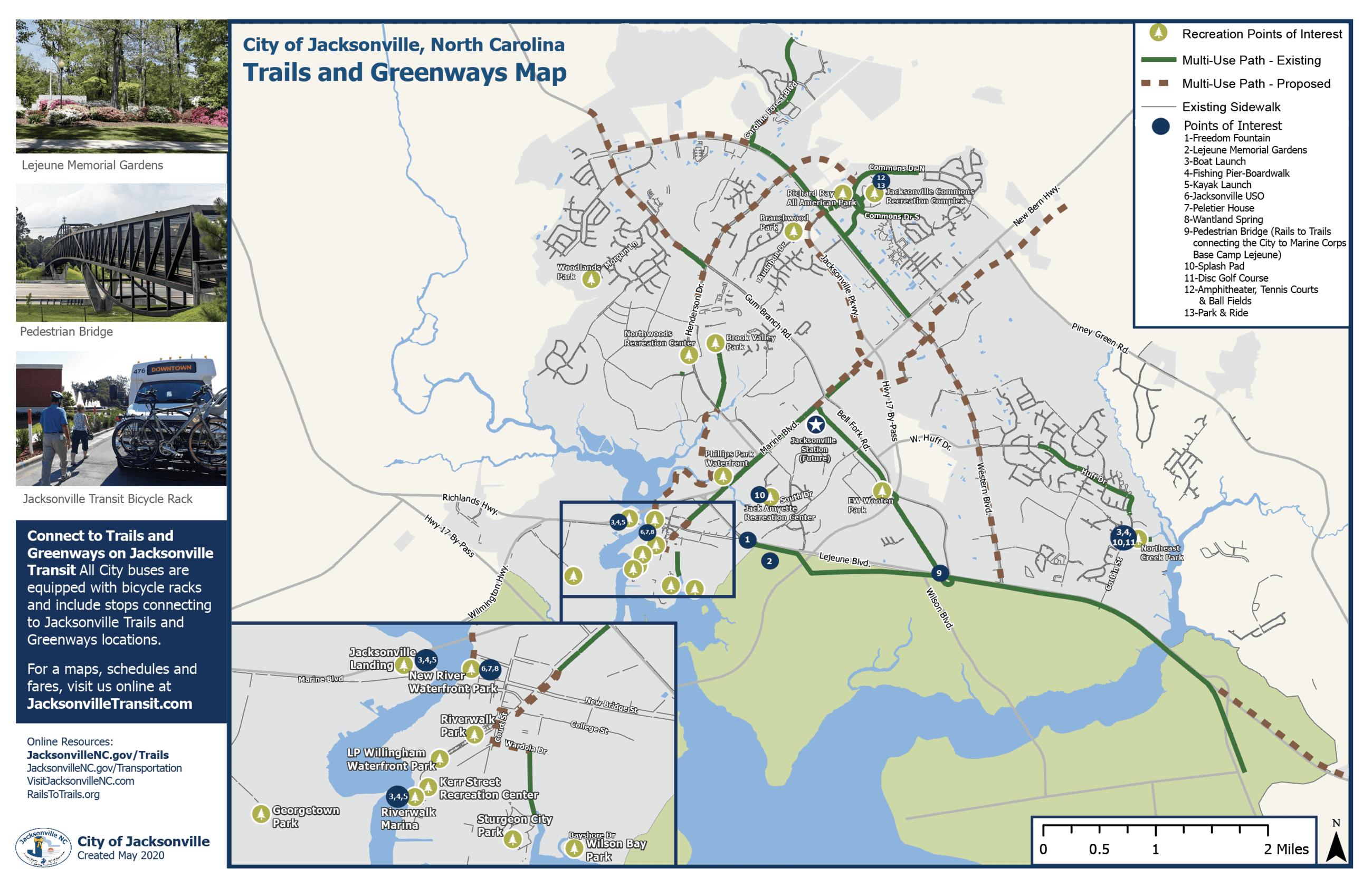 Trails & Greenways Map